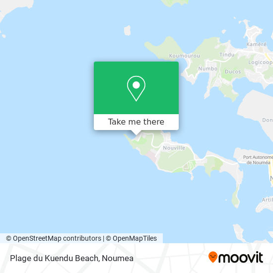 Plage du Kuendu Beach map