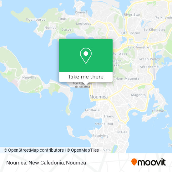 Noumea, New Caledonia map