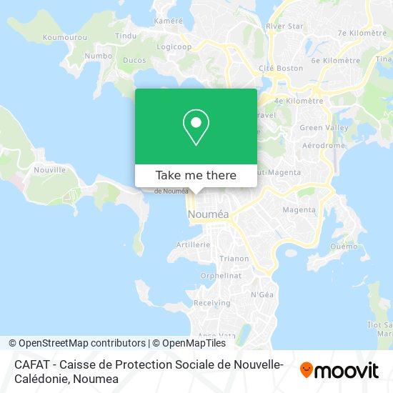 CAFAT - Caisse de Protection Sociale de Nouvelle-Calédonie map