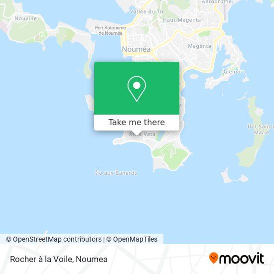 Rocher à la Voile map