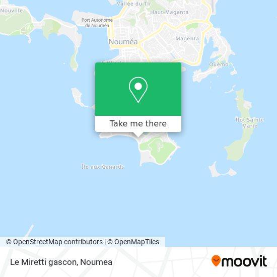 Le Miretti gascon map