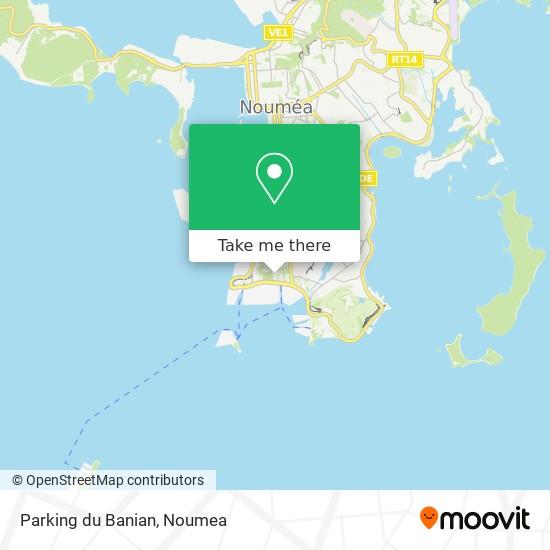 Parking du Banian map
