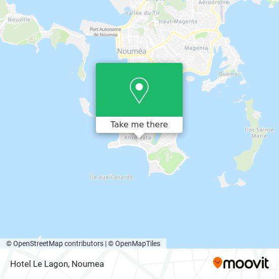 Hotel Le Lagon map