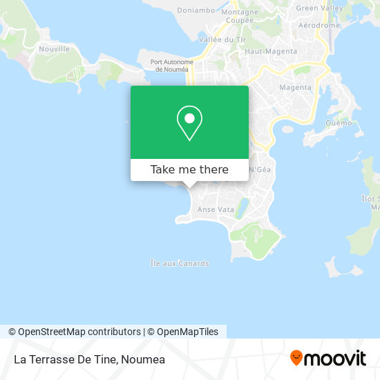 La Terrasse De Tine map