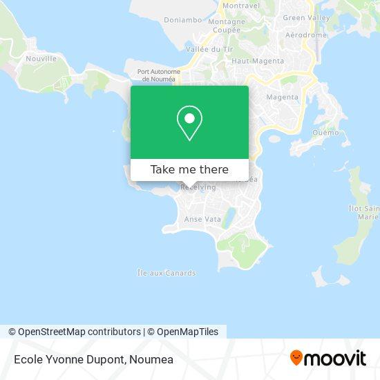 Ecole Yvonne Dupont map
