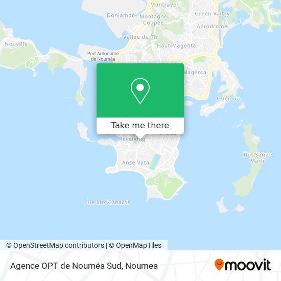 Agence OPT de Nouméa Sud map