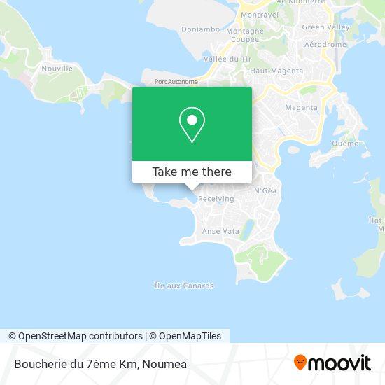 Boucherie du 7ème Km map