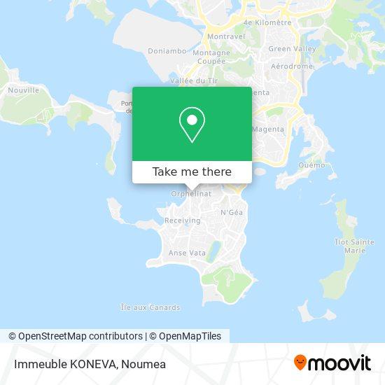 Immeuble KONEVA map