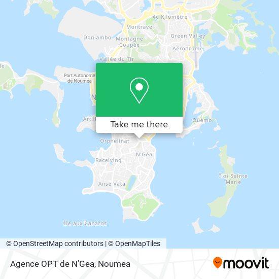 Agence OPT de N'Gea map