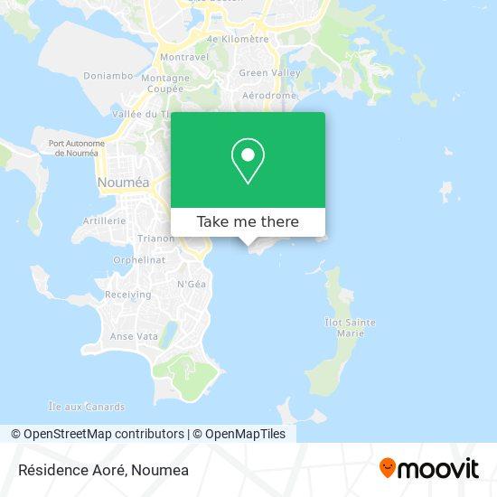 Résidence Aoré map