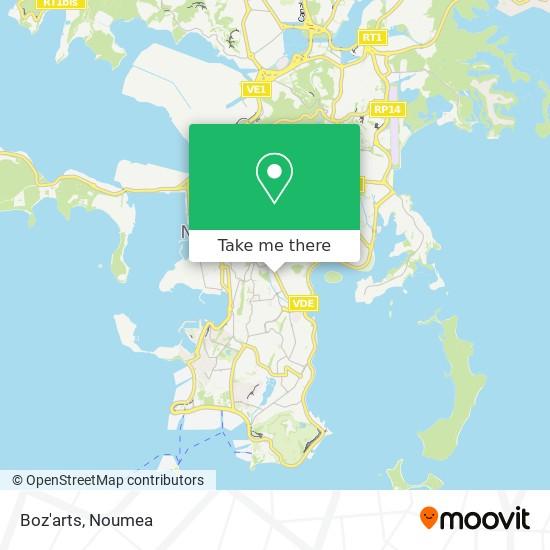 Boz'arts map