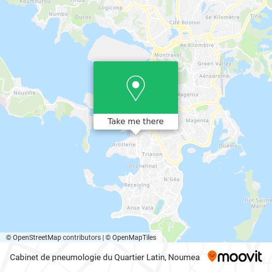 Cabinet de pneumologie du Quartier Latin map