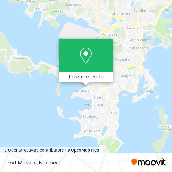 Port Moselle map