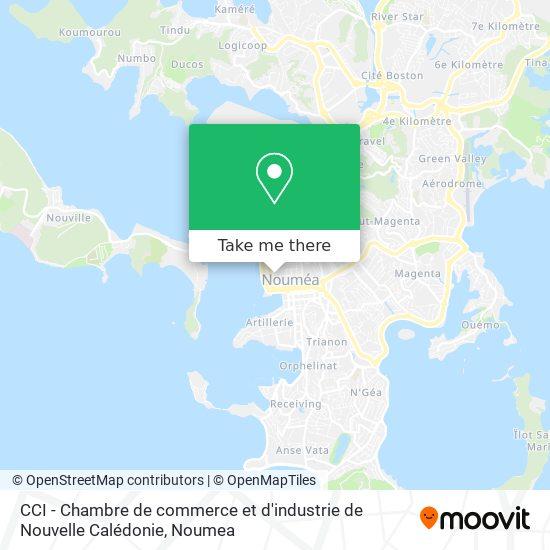 CCI - Chambre de commerce et d'industrie de Nouvelle Calédonie map
