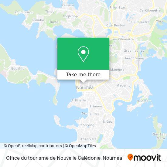 Office du tourisme de Nouvelle Calédonie map