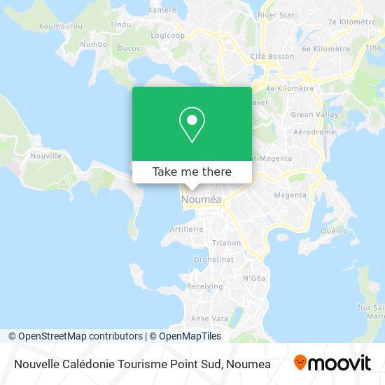 Nouvelle Calédonie Tourisme Point Sud map