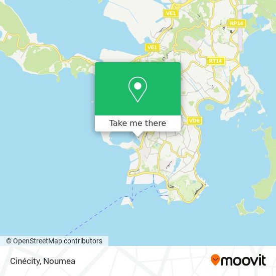 Cinécity map
