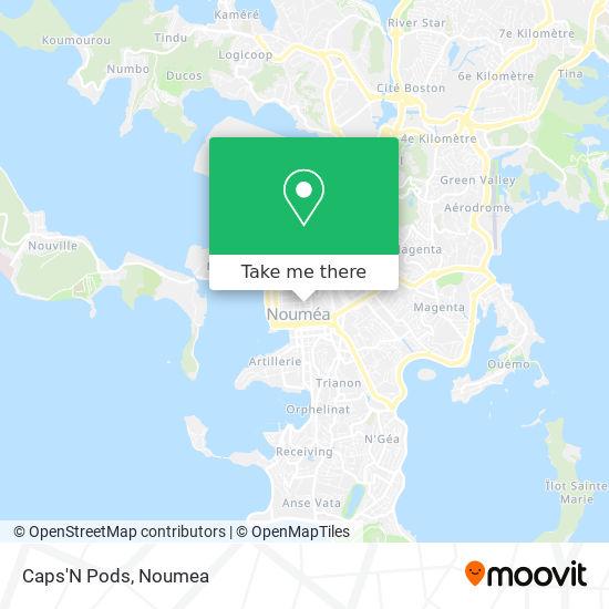Caps'N Pods map