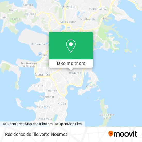Résidence de l'ile verte map