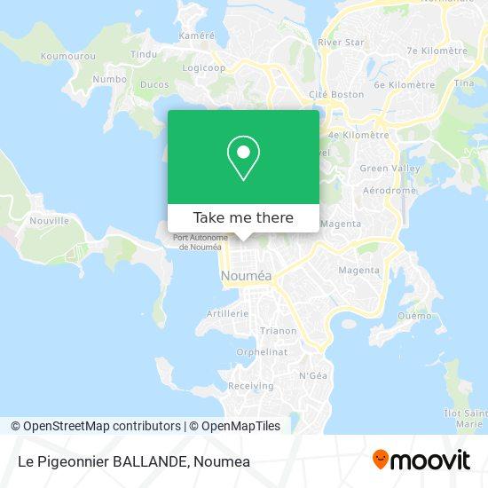 Le Pigeonnier BALLANDE map