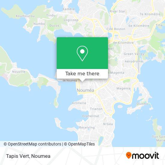 Tapis Vert map