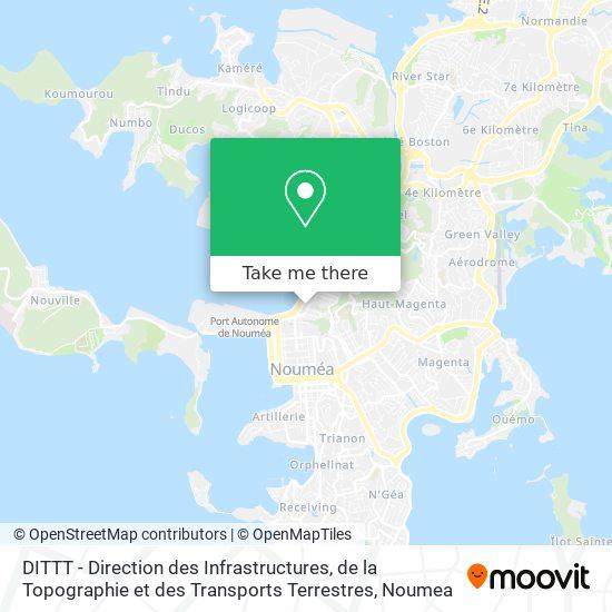 DITTT - Direction des Infrastructures, de la Topographie et des Transports Terrestres map