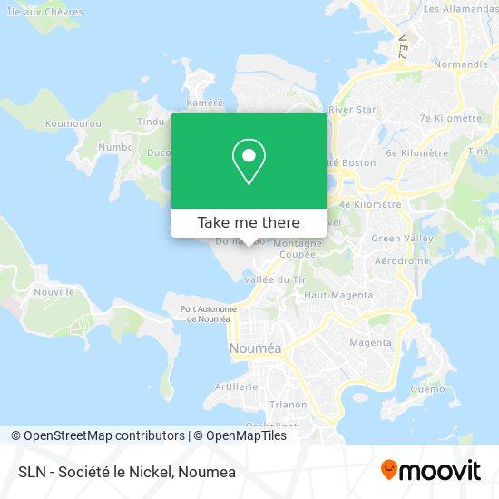 SLN - Société le Nickel map