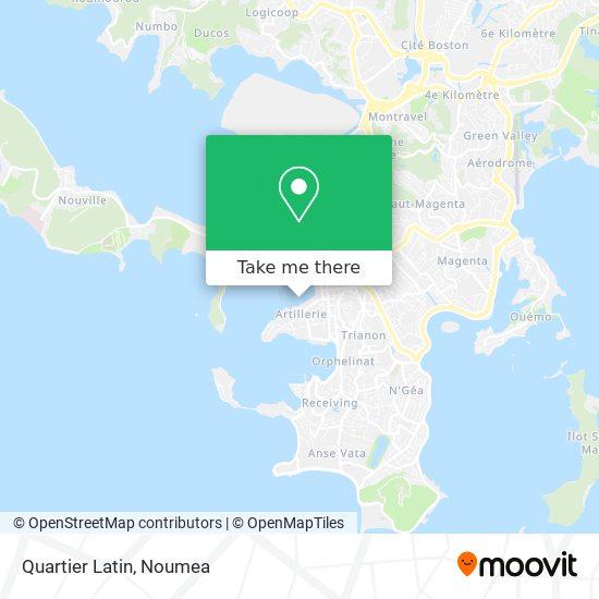 Quartier Latin map