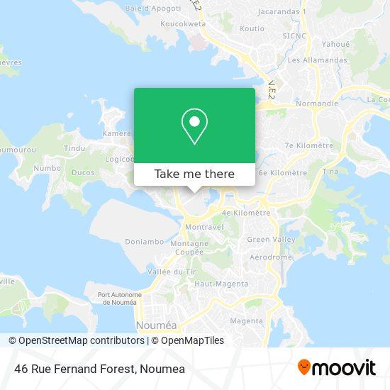 46 Rue Fernand Forest map