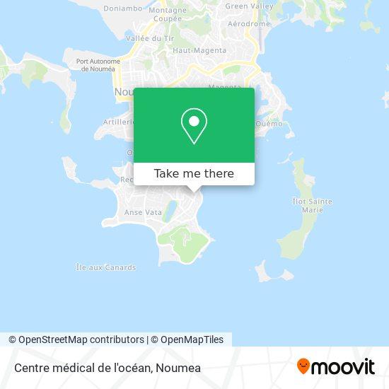 Centre médical de l'océan map