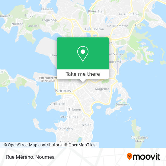 Rue Mérano map