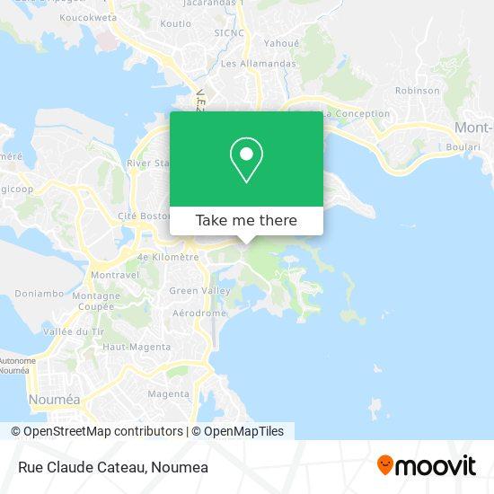 Rue Claude Cateau map