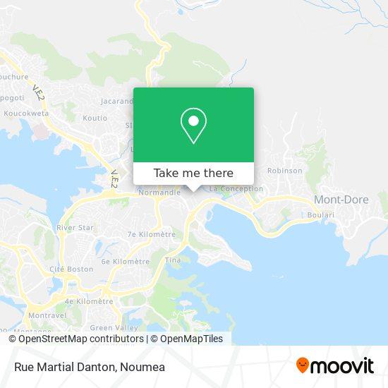 Rue Martial Danton map