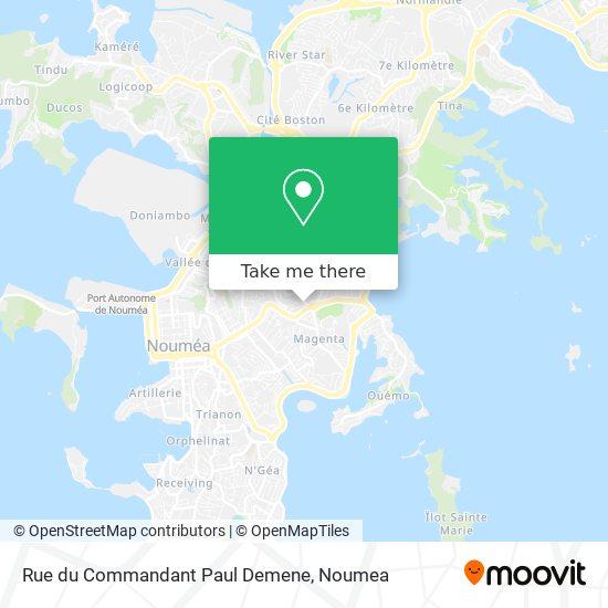 Rue du Commandant Paul Demene map