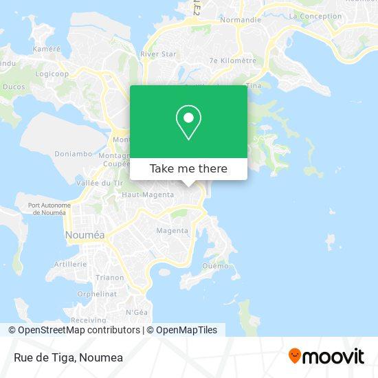 Rue de Tiga map