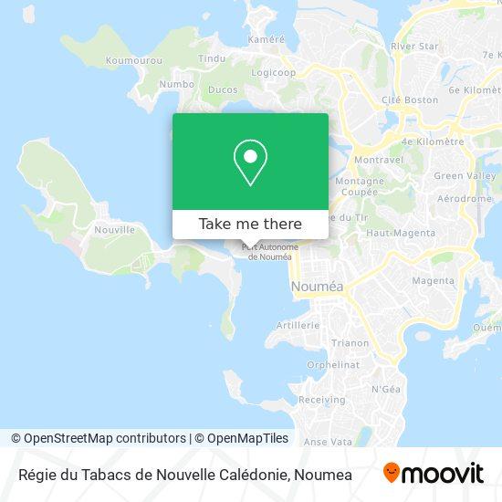 Régie du Tabacs de Nouvelle Calédonie map