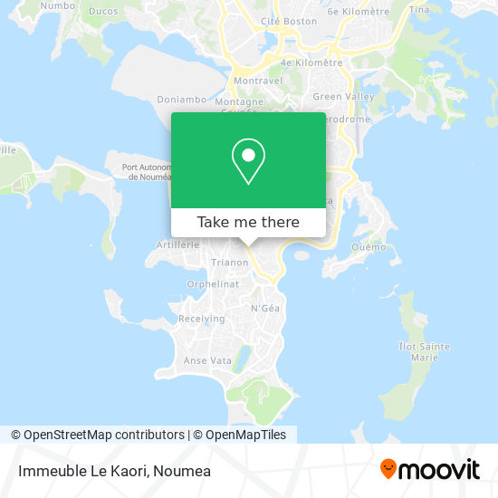 Immeuble Le Kaori map