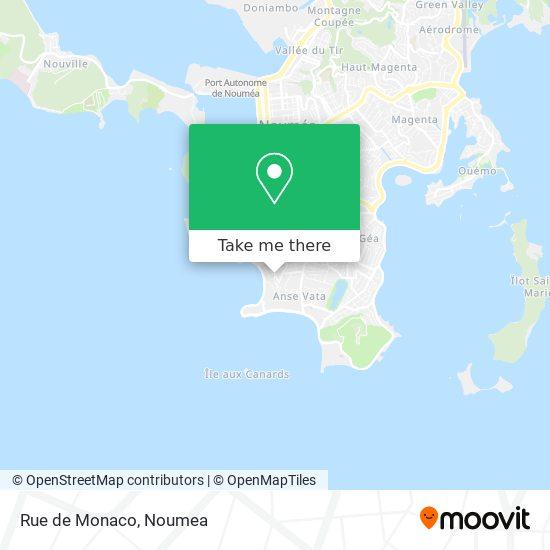 Rue de Monaco map