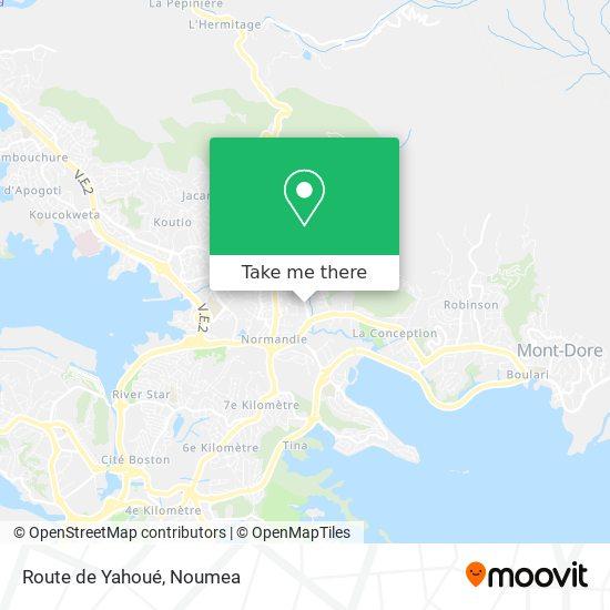 Route de Yahoué map
