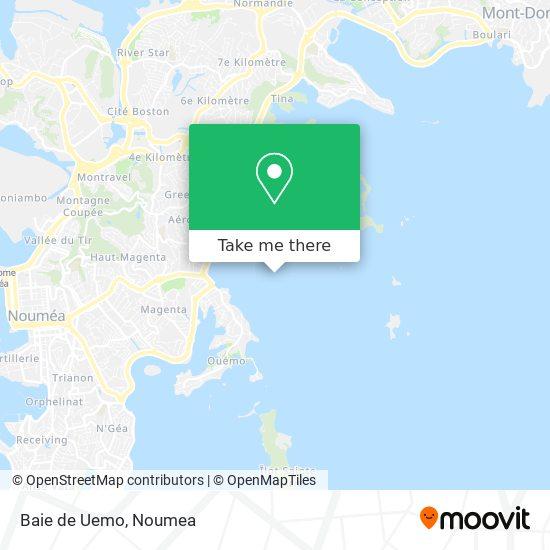 Baie de Uemo map