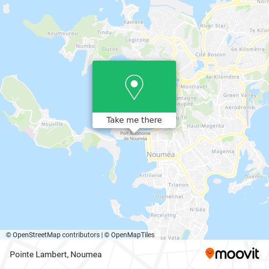 Pointe Lambert map