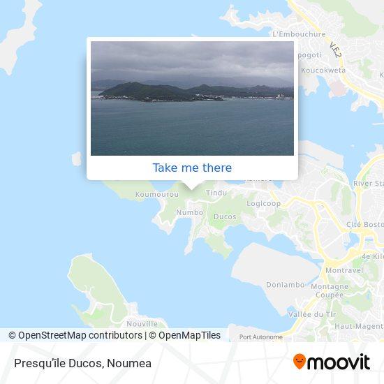 Presqu'île Ducos map