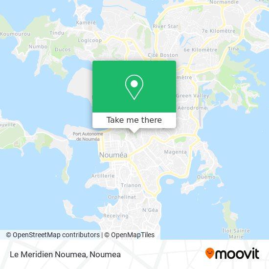 Le Meridien Noumea map