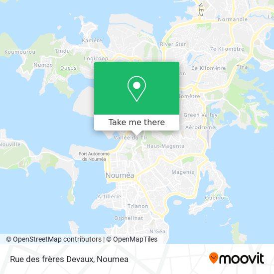 Rue des frères Devaux map