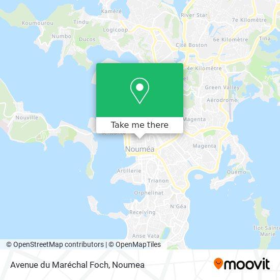 Avenue du Maréchal Foch map
