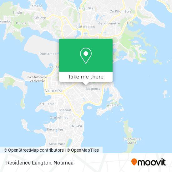 Résidence Langton map