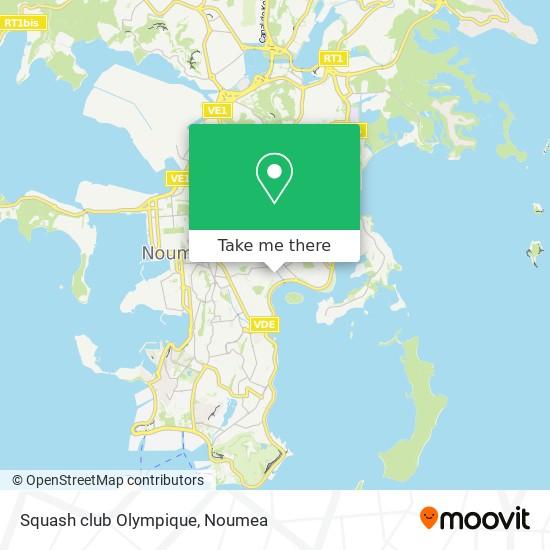 Squash club Olympique map