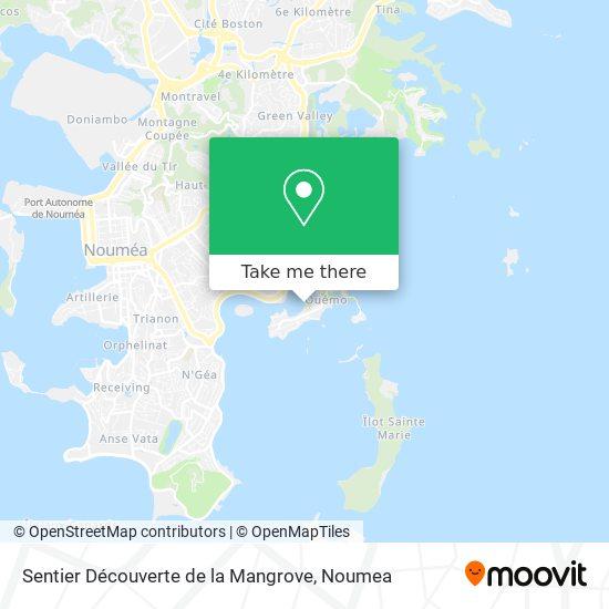 Sentier Découverte de la Mangrove map