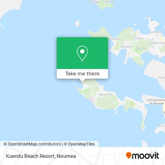 Kuendu Beach Resort map