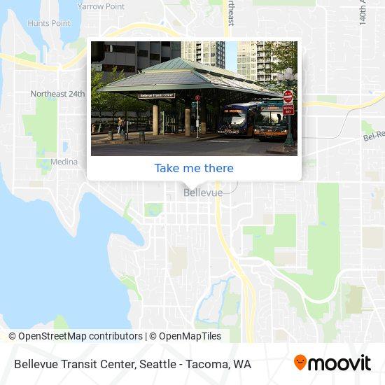 Bellevue Transit Center map